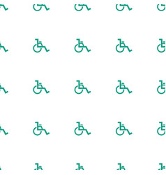 wheel chair icon pattern seamless white background vector image
