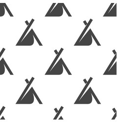 wigwam seamless pattern camping vector image