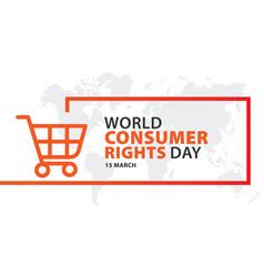 World consumer rights day 15 march logo design vector
