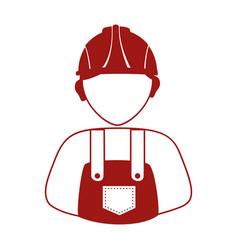 Builder avatar silhouette icon vector