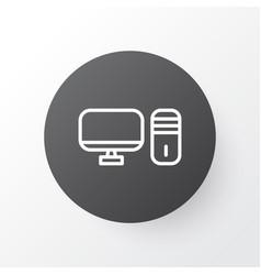 Desktop pc icon symbol premium quality isolated vector