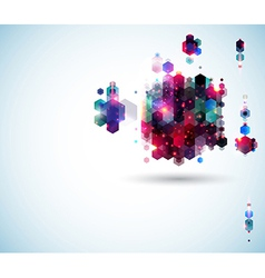Glossy abstract page layout for Your presentation vector image vector image