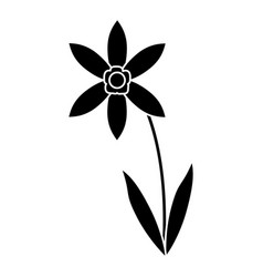 lily petal natural style pictogram vector image vector image