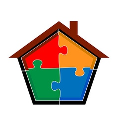 puzzle home vector image vector image