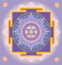 Sacred Geometry saturn yantra vector image