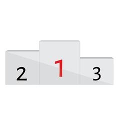 Winners podium vector image vector image