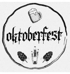 Beer festival Oktoberfest badges logos and labels vector image