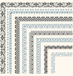 Decorative seamless ornamental border vector image vector image