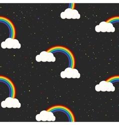 Night sky fantasy kid seamless pattern vector