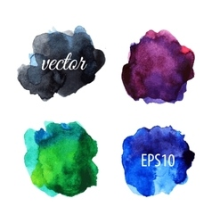 Watercolor blots isolated on white background vector image vector image