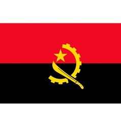 Angolan flag vector image