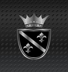 heraldic elements on metallic background - vector image