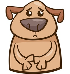 mood sad dog cartoon vector image vector image