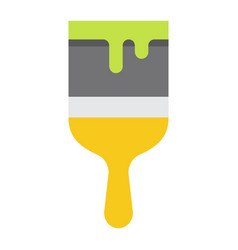 paint brush flat icon build and repair paint vector image
