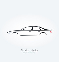 sedan car silhouette design vector image vector image