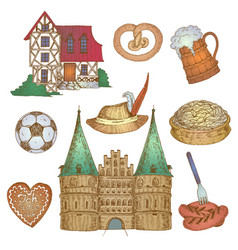 colorful germany icon set vector image