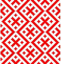 Seamless pattern based on russian folk ornament vector