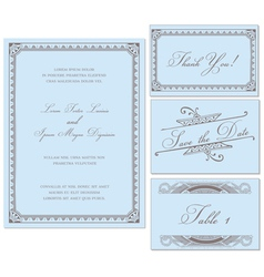Vintage Wedding Frame Set vector image vector image
