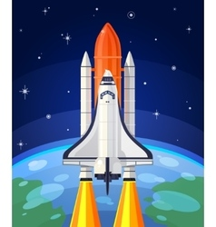 a space rocket launch vector image