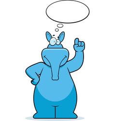 aardvark thinking vector image