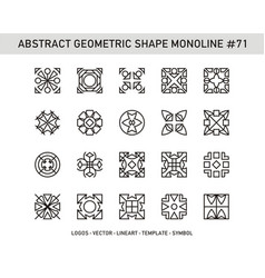 Abstract geometric shape monoline 71 vector