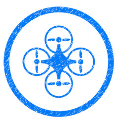 air copter rounded grainy icon vector image