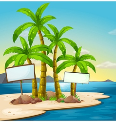 An island with signboards vector image
