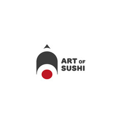 Art sushi logo vector