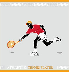 Athlete tennis player vector