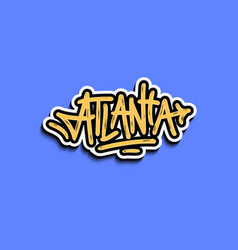 Atlanta georgia usa hand lettering sticker design vector