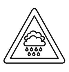 Attention flood icon outline style vector