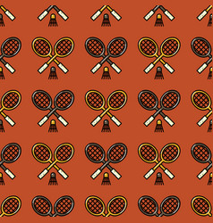 Badminton racket seamless pattern vector