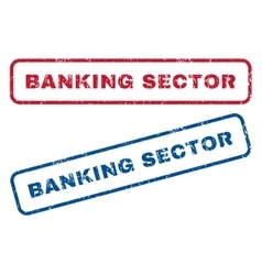 Banking Sector Rubber Stamps vector
