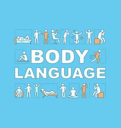 Body language concept icon vector