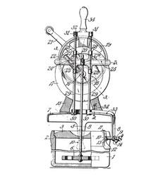 Churn device vintage vector