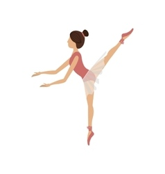 Colorful dancer pose fifth arabesque vector