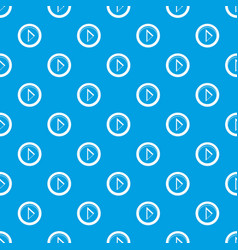 cursor to right in circle pattern seamless blue vector image