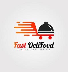 Delivery food logo designrestaurant food icon vector