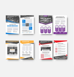 design white flyers templates with space for vector image