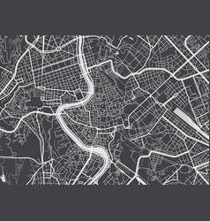 Detailed map rome vector