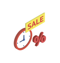 discount sale symbol isometric 3d icon vector image