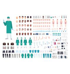 doctor surgeon or paramedic constructor or diy vector image