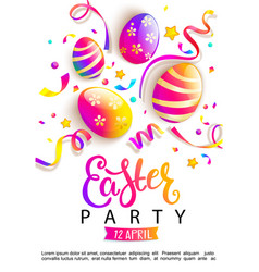 Easter party invitation card vector