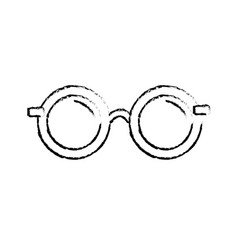 Figure glasses with fashion style design vector