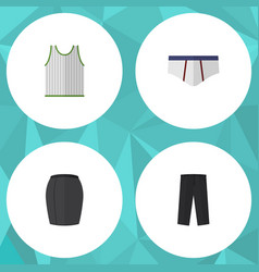flat icon garment set of stylish apparel pants vector image
