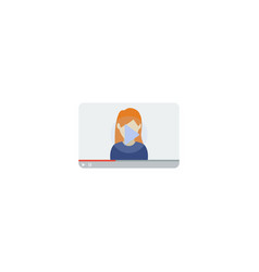 flat icon video blogger element vector image