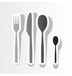 fork spoon and knife sign new year vector image