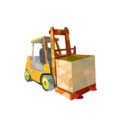 Forklift Truck Materials Handling Box Low Polygon vector