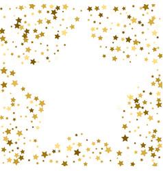 Gold frame or border of random scatter golden vector