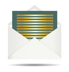 Gold Letter and Opened White Envelope vector image